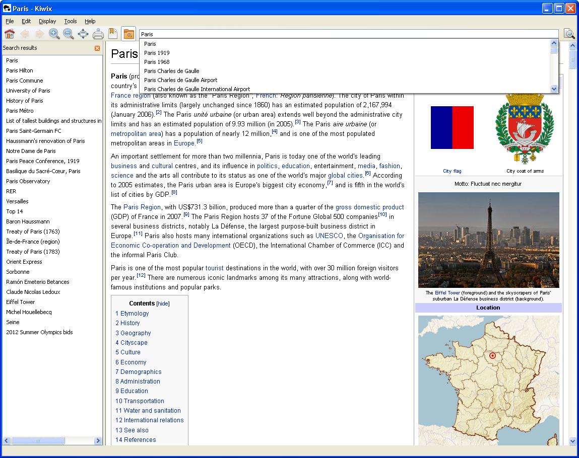 Kiwix - enabling offline copies of wikimedia projects /static/Schools/Kiwix_0.9_alpha1_screenshot_en.png