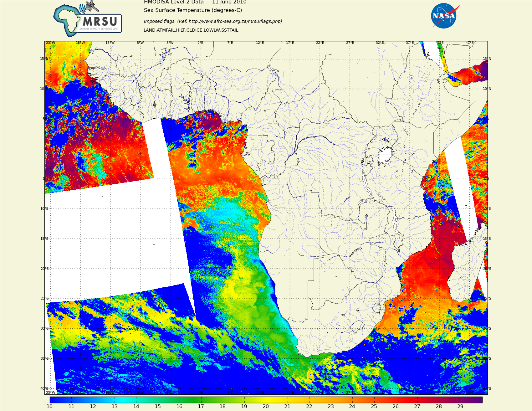 Centre for High performance computing in Cape Town /static/South_Africa/Africa_MODIS_sst_20100611.png