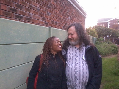 Richard Stallman visits Cape Town /static/South_Africa/StallmanAndLerato.jpg