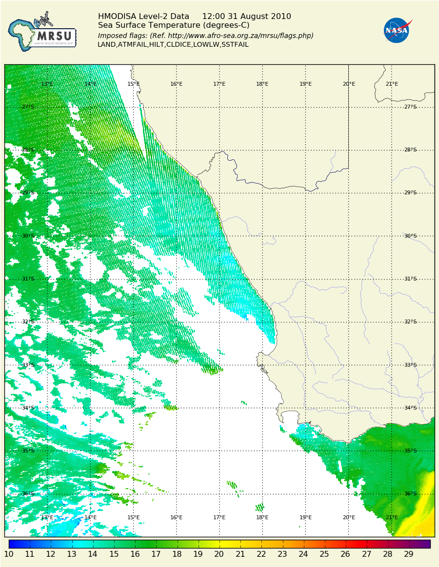 Using the Centre for High Performance Computing, Cape Town /static/South_Africa/WSAfrica_MODIS_sst_20100831.png
