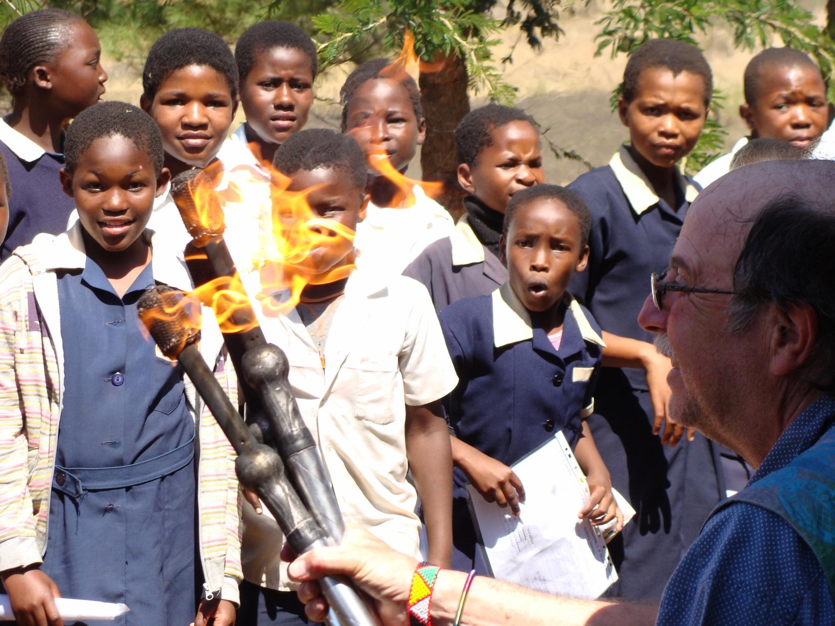 Annual Sangoma ceremony in Zululand /static/Zulu/fireclubs.jpg